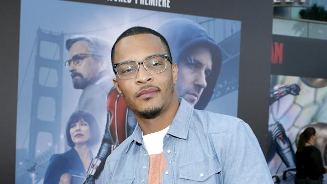 "T.I. poses during premiere of Marvel's ""Ant-Man"" in Hollywood"