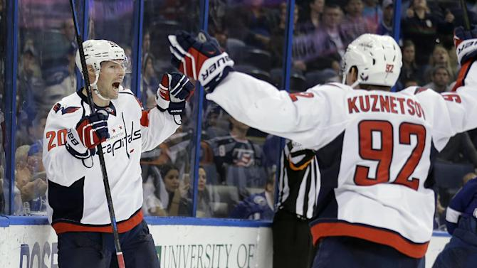 Holtby, Ovechkin help Capitals beat Lightning 5-3