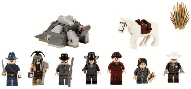 The Lone Ranger minifigures