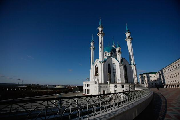 Qolsharif Mosque in the Kazan Kremlin in Kazan, Russia
