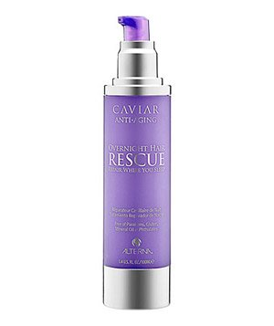 Alterna's Caviar Anti-Aging Overnight Hair Rescue treatment