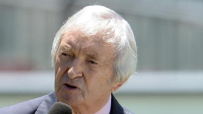 Legendary Australian cricketer and commentator Richie Benaud, pictured at the Sydney Cricket Ground, on January 6, 2013
