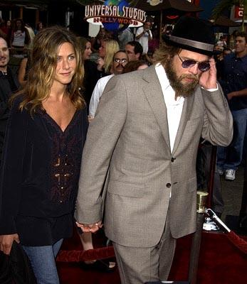 Jennifer Aniston and Brad Pitt at the LA premiere of The Bourne Identity
