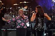 "Alicia Keys (left) and Angelique Kidjo perform at a Mandela Celebration Concert in New York in 2009. The anti-apartheid hero was on a US terror watch list until 2008 and while still on Robben Island, Britain's late ""Iron Lady"" Margaret Thatcher described his African National Congress as a ""typical terrorist organisation."""