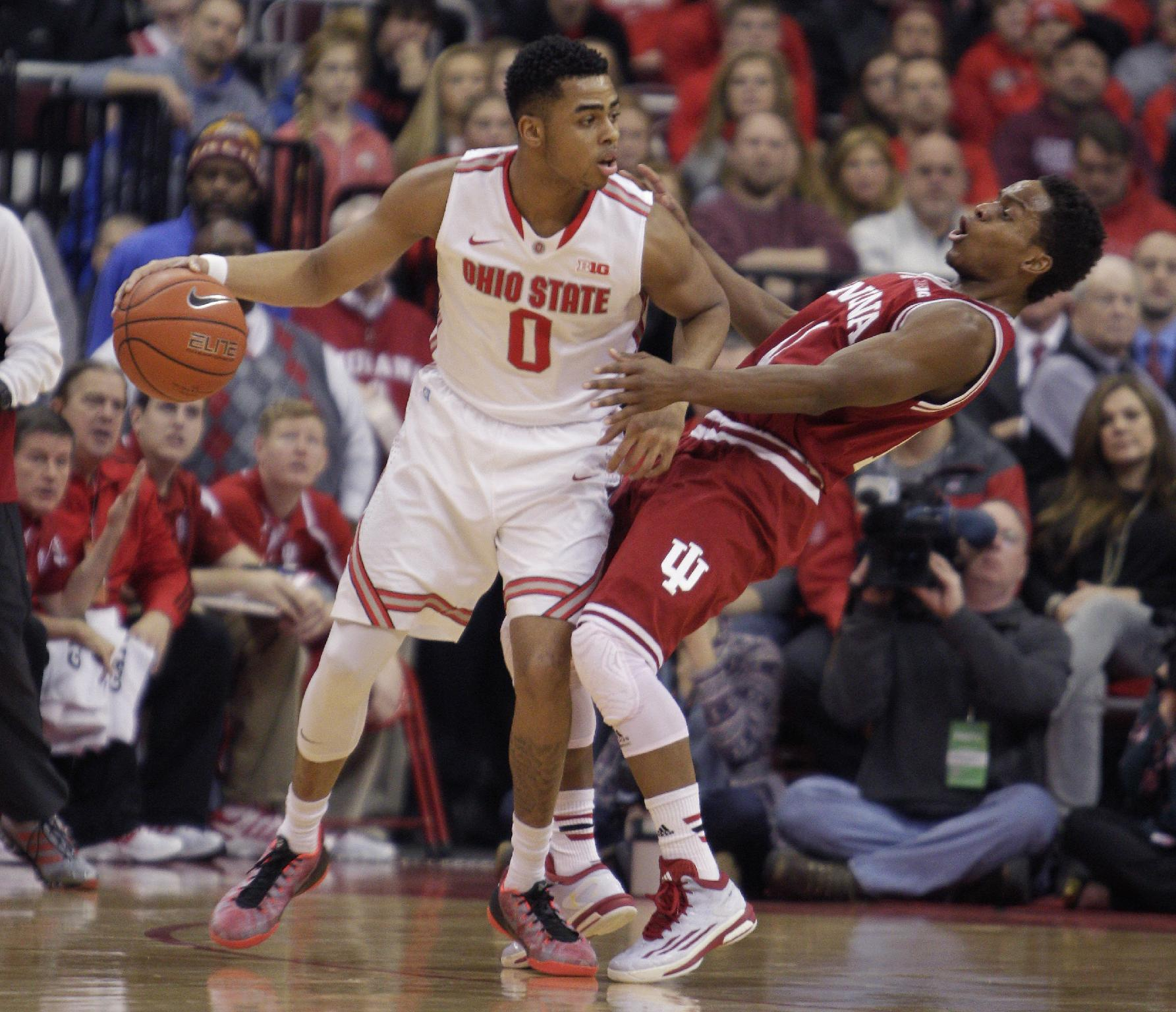 Russell helps Ohio State upset No. 23 Indiana 82-70