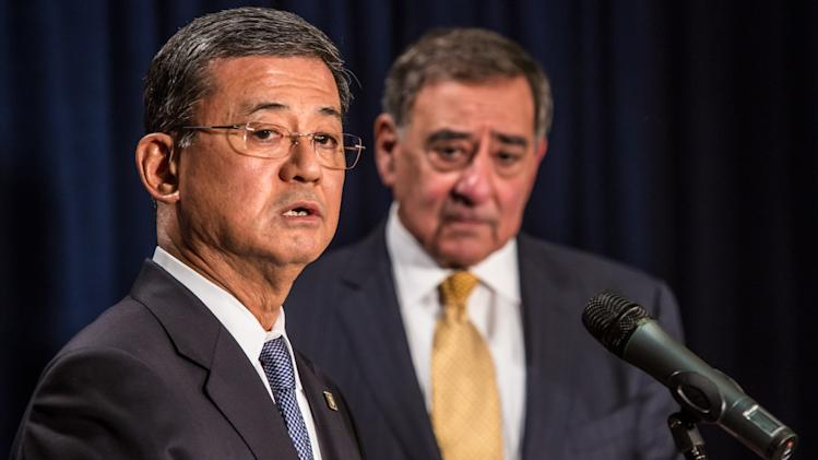 Secretary Of Defense Panetta And Secretary Of Veterans Affairs Shinseki Discuss Their Department's Collaboration