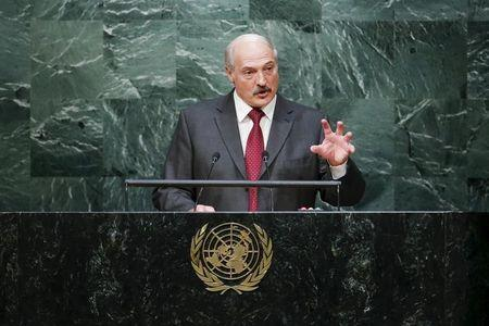 Belarus' President Lukashenko addresses the 70th session of the United Nations General Assembly at the U.N. headquarters in New York