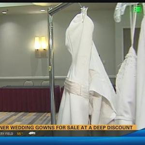 Designer wedding gowns for sale at a deep discount  5:45 a.m.