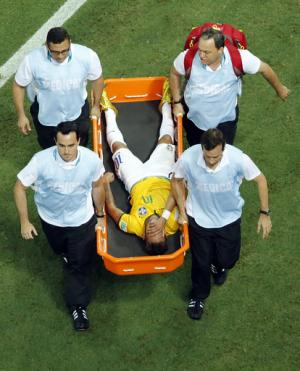 Neymar injury casts a pall over Brazil cup win