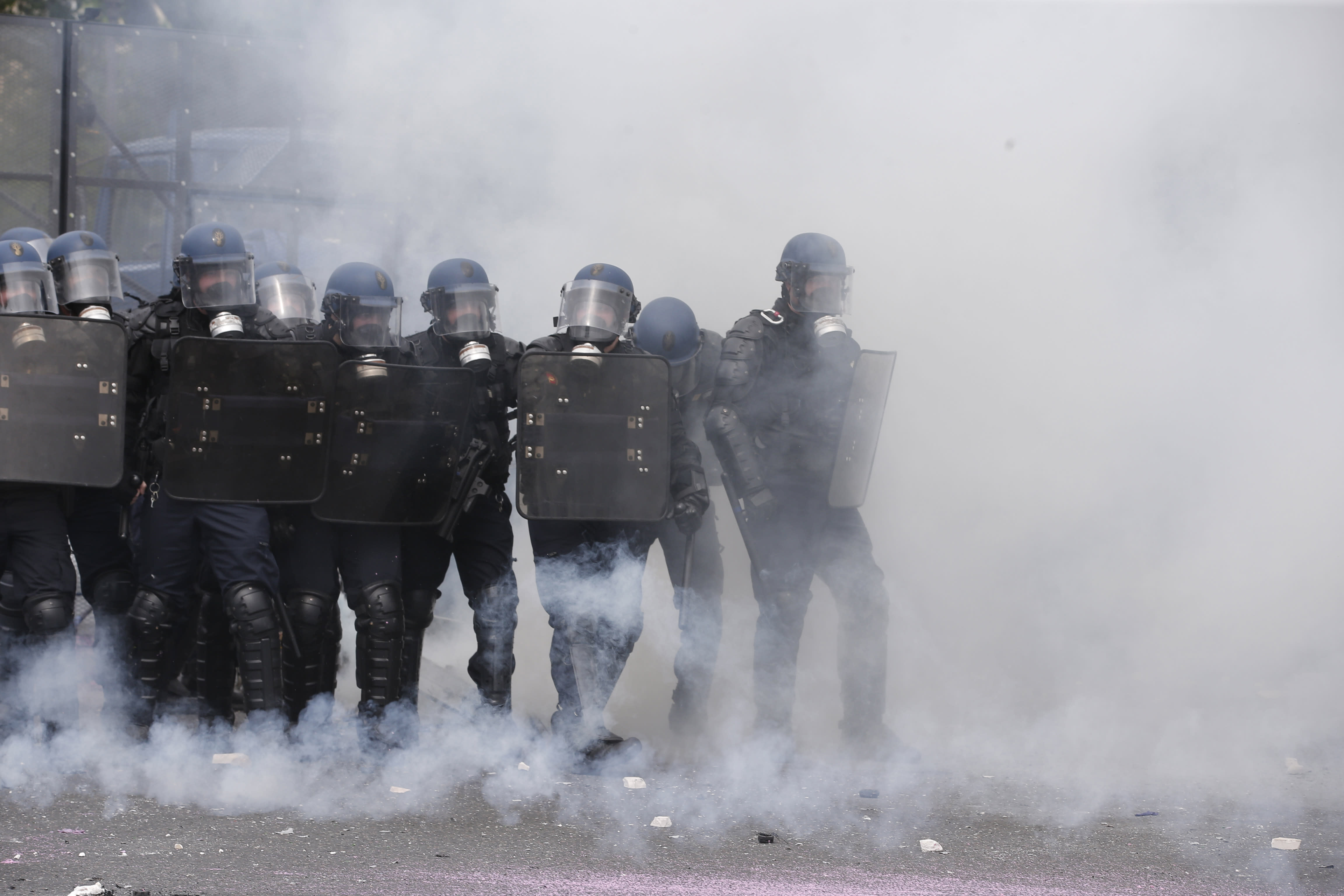 The Latest: EDF staff join French labor protests