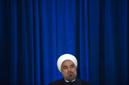Iran's President Hassan Rohani participates in an event hosted by the Council on Foreign Relations and the Asia Society in New York