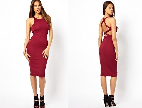 Oh My Love Midi Dress with Strappy Back