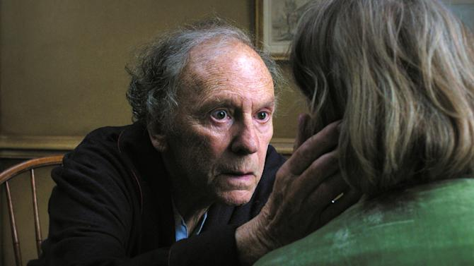 "This film image released by Sony Pictures Classics shows Jean-Louis Trintignant in a scene from the Austrian film, ""Amour.""  The film is on of 71 films submitted for consideration in the foreign language film category for the 85th Academy Awards. The Academy Awards will be presented on Sunday, Feb. 24, 2013, at The Dolby Theatre in Los Angeles. (AP Photo/Sony Pictures Classics)"