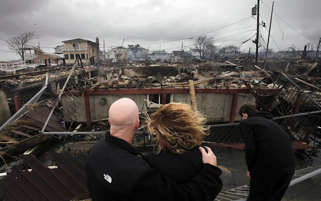 Hurricane Sandy swept through the East Coast, leaving 128 people dead and causing an estimated $71 billion in damage. The superstorm destroyed seaside amusement parks in New York and New Jersey. (Mark Lennihan/AP Photo)