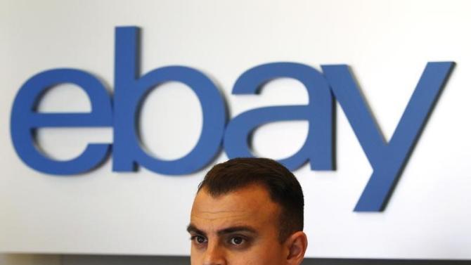 An eBay sign is seen in an eBay office space in San Jose, California