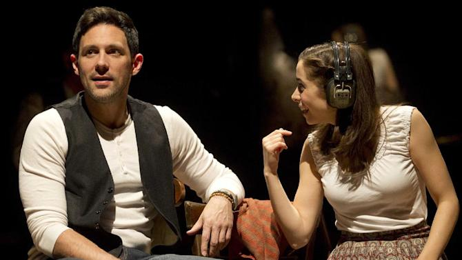 "In this theater image released by Boneau/Bryan-Brown, Steve Kazee, left, and Cristin Milioti are shown in a scene from ""Once,"" in New York. The Tony Award-winning musical ""Once"" has recouped its $5.5 million investment in less than six months, producers announced Monday, Aug. 13, 2012.  (AP Photo/Boneau/Bryan-Brown, Joan Marcus)"