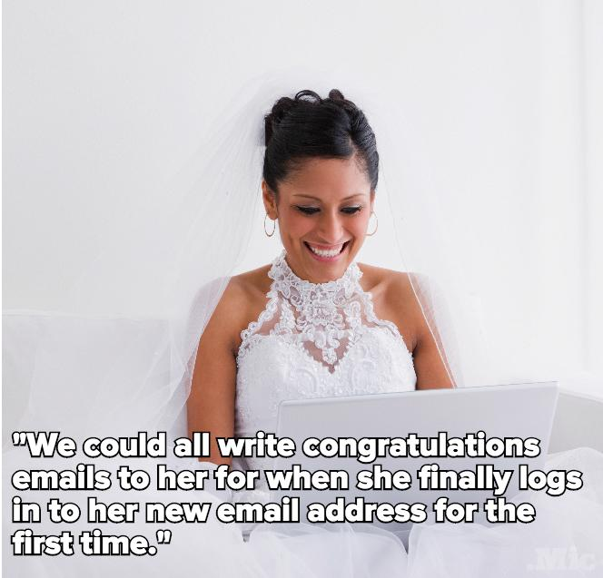 The Latest Wedding Gift for Brides? A Brand-New Email Address