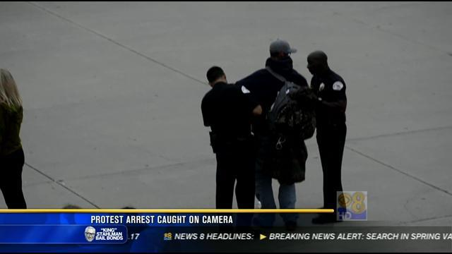 Protest arrest caught on camera