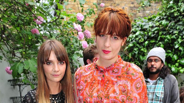 "COMMERCIAL IMAGE - In this image provided by Mission, Florence Welch and Fee Greening (Winner) attend Hop Farm's ""Create the Gate"" exhibition sponsored by Belvedere Vodka on Thursday, May 31, 2012 in London. (Photo by Jon Furniss/Invision for Mission)"