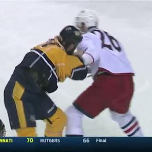 Corey Tropp and Eric Nystrom scrap