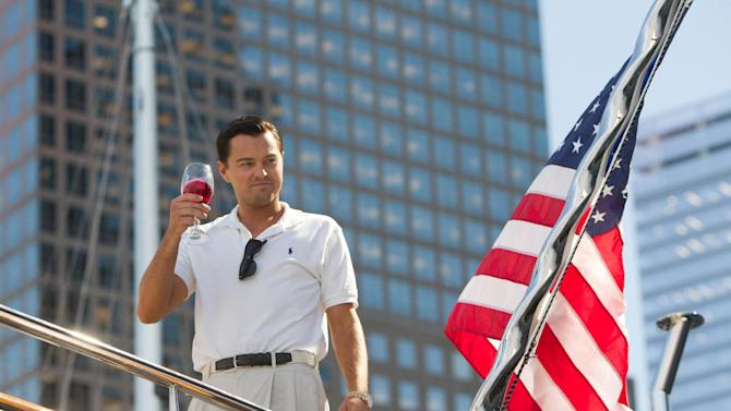 """This film image released by Paramount Pictures shows Leonardo DiCaprio as Jordan Belfort in a scene from """"The Wolf of Wall Street."""" The release of Martin Scorsese's """"The Wolf of Wall Street"""" has been pushed to Dec. 25. Paramount Pictures made the widely expected announcement Tuesday, Oct. 29. Scorsese's Wall Street epic starring Leonardo DiCaprio had previously been scheduled to be release Nov. 15. (AP Photo/Paramount Pictures and Red Granite Pictures, Mary Cybulski)"""