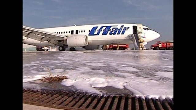 Plane catches fire landing at Moscow airport