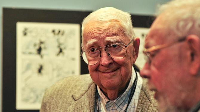 Mad Magazine cartoonist Jack Davis attend an event in his honor by the Savannah College of Art and Design and the National Cartoonists Society, Friday, Oct. 11, 2011 in Savannah, Ga.  Davis is among eight veteran MAD contributors gathering Saturday for a rare reunion. (AP Photo/Stephen Morton)