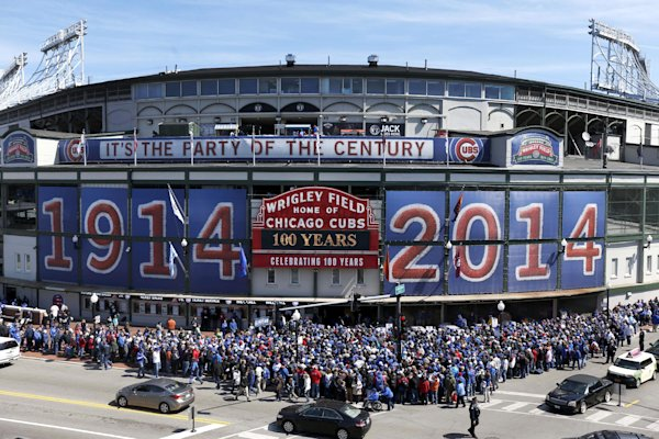 Party a century in the making for Wrigley Field
