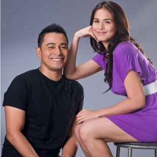 "Cesar Montano and Iza Calzado star in yet another TV remake, ""Andres De Saya."" (Courtesy of GMA-7)"