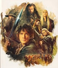 The Hobbit: Desolation of Smaug Annual: A great image of Bilbo, Gandalf, Thorin, Thranduil and Legolas together