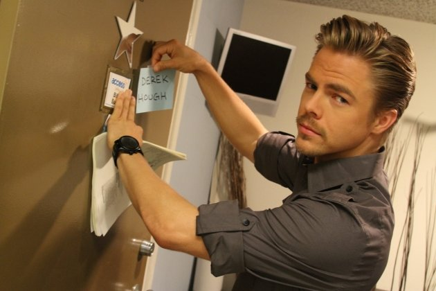 Derek Hough backstage at Access Hollywood Live on July 30, 2012  -- Access Hollywood