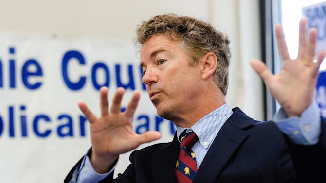 Senator Rand Paul (R-KY) Starts Three-Day Bus Tour Of Iowa In Council Bluffs