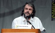 """The Hobbit"" trilogy director Peter Jackson speaks at a film preview in San Diego in July 2012. In a statement defending the treatment of animals during filming, ""The Hobbit"" producers have said that 55% of shots featuring animals in the trilogy, which has a budget estimated at US$500 million, were computer-generated"