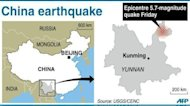 At least 80 people were killed in the series of earthquakes that hit a remote and mountainous area of southwest China