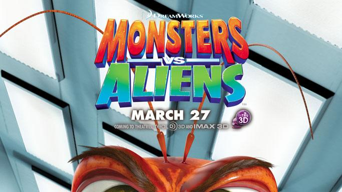 Monsters vs Aliens Production Stills 2009 DreamWorks Poster