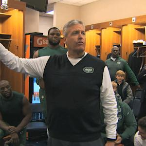 New York Jets celebrate win over Tennessee Titans