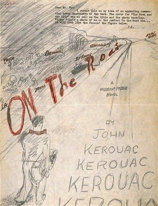 See Jack Kerouac's Hand-Drawn Cover for 'On the Road'