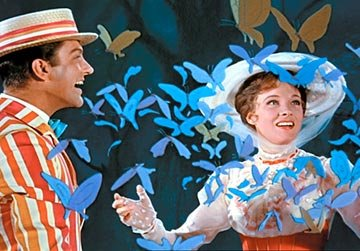 Dick Van Dyke and Julie Andrews in Walt Disney's Mary Poppins