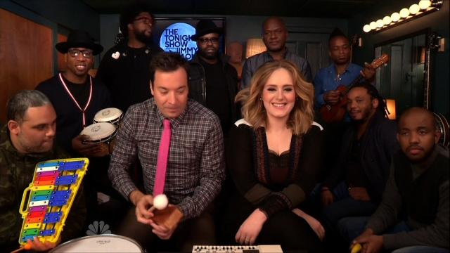 Adele Performs 'Hello' with The Roots and Jimmy Fallon
