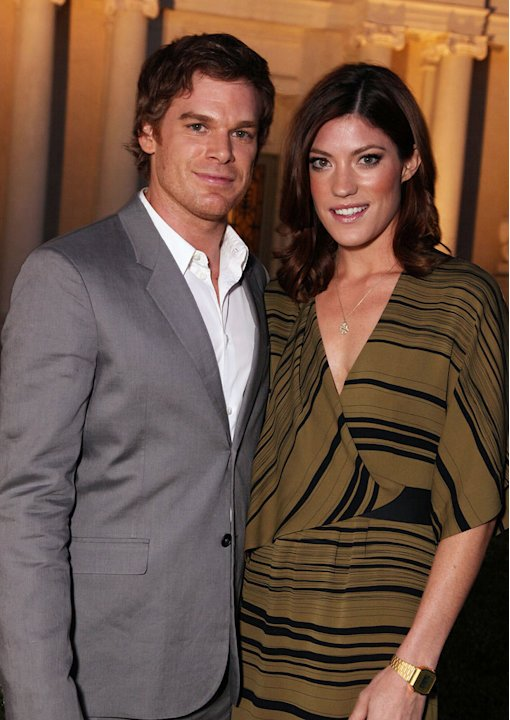 Michael C. Hall and Jennifer Carpenter (&quot;Dexter&quot;) at the CBS, The CW, and Showtime 2009 TCA Summer Tour All-Star Party held at the Huntington Library on August 3, 2009 in Pasadena, California. 