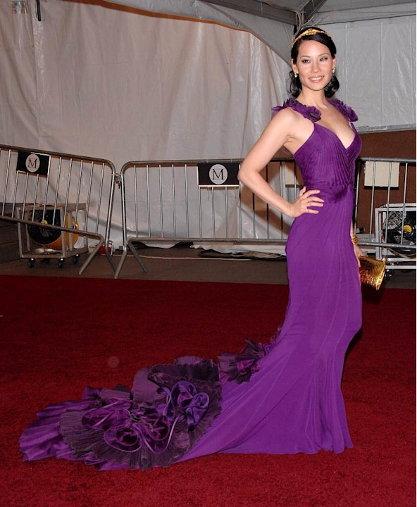 "Lucy Liu at the ""Poiret: King of Fashion"" Costume Institute Gala at The Metropolitan Museum of Art."