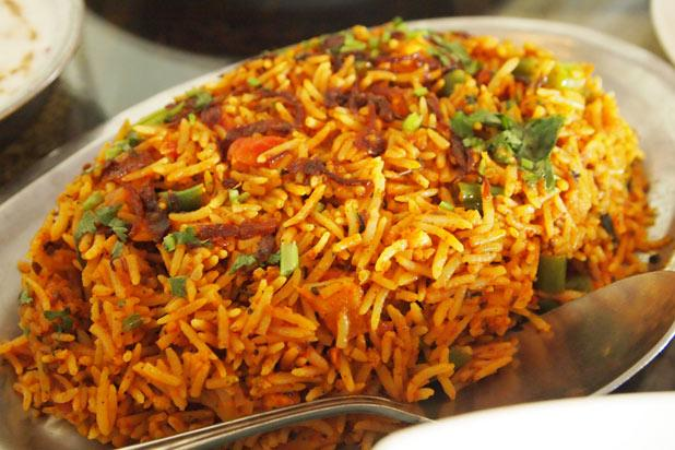 Even though there are many, many versions of biryani, the favorite in Pakistan is sindhi biryani. It has chicken, basmati rice, vegetables, chiles, and yogurt.     is known for serving some of the city's favorite biryani. The spot is so good that it went from a street stand to a brick-and-mortar chain.