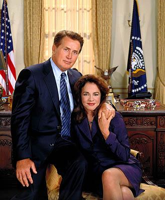 "Martin Sheen as President Josiah Bartlet and Stockard Channing as First Lady Abigail Bartlet on NBC's ""The West Wing"" West Wing"