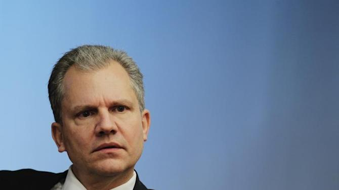 Arthur Sulzberger, Jr., chairman of The New York Times Company, listens at the Reuters Global Media Summit in New York