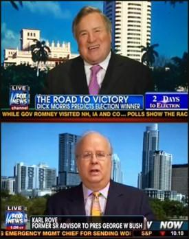 Fox News Benches Karl Rove & Dick Morris; President Obama Briefs MSNBC Hosts