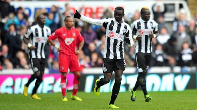 Newcastle United's Papiss Cisse celebrates scoring against Southampton (PA Sport)