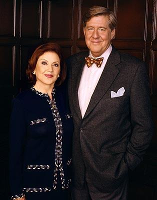 Kelly Bishop as Emily Gilmore and Edward Herrmann as Richard Gilmore in WB's Gilmore Girls