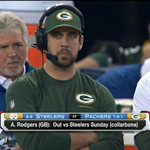 Green Bay Packers quarterback Aaron Rodgers out for Week 16