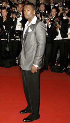 Curtis '50 Cent' Jackson at the 2006 Cannes Film Festival premiere of 20th Century Fox's X-Men: The Last Stand
