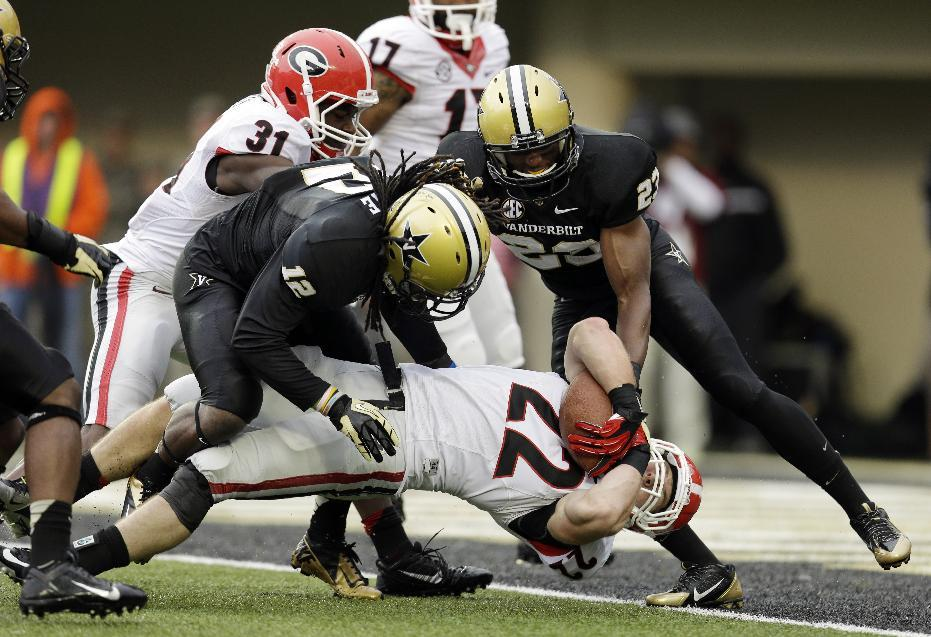 Vanderbilt rallies, upsets No. 15 Georgia 31-27